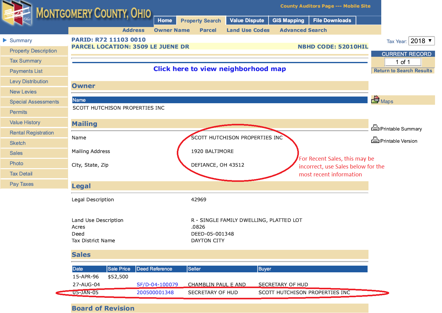 Montgomery County Auditor Owner Name